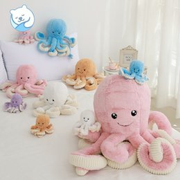 dolls wholesalers NZ - 5 Styles Creative Cartoon Octopus Plush Doll Toy 18cm 40cm Stuffed Octopus Doll Children Gift L526