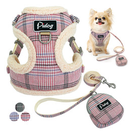 soft dog vest harness NZ - Soft Pet Dog Harnesses Vest No Pull Adjustable Chihuahua Puppy Cat Harness Leash Set For Small Medium Dogs Coat Arnes Perro
