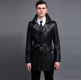 Korean Motorcycle Jacket Australia - Hot 2019 new Men's New motorcycle leather jacket Fashion Korean Trench Coat For Men Spring And Autumn Double-breasted Windbreaker mens S-6XL
