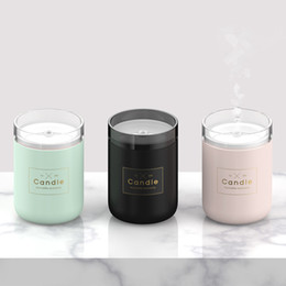 Wholesale 280ML Candle Humidifier Ultrasonic Air Humidifier Soft Light USB Essential Oil Diffuser Car Purifier Aroma Anion Mist Maker GGA1877