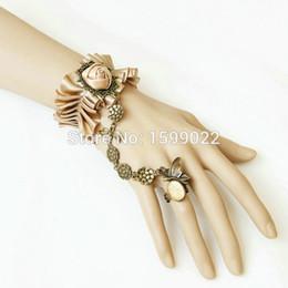 $enCountryForm.capitalKeyWord Australia - Lolita Champagne Finger Royal Bracelet for Women Wedding Antique Bronze Charms Bangle Jewelry Prom Bridal Hand Accessories