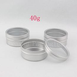 Skins Windows Australia - 40g X 100 empty skin care cream aluminum containers with window cap,metal aluminum jar window lid ,metal bottle tin pot