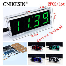 computer clock NZ - Freeshipping 2PCS DIY clock Digital clock production suite voice timekeeping , DIY SCM training electronic watch 4colors (optional