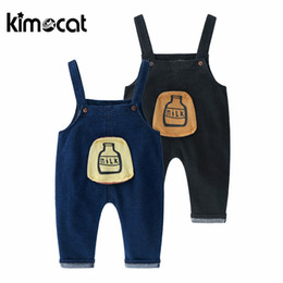 China Kimocat Newborn Boy Girl Cotton High Quality Leggings Suspender Trousers Jeans Pants Kids Clothing Baby Pant Y190529 cheap newborn baby boy jeans suppliers