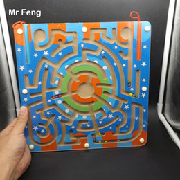 Toy Magnetic Squares NZ - Big Square Maze Wooden Puzzle Labyrinth Magnetic Ball Brian Mind Toys Intelligence Game Toys For Children ( Model Number B269 )
