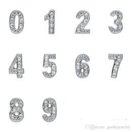 $enCountryForm.capitalKeyWord NZ - New beads for jewelry making Photo Frame Pendant locket charms Arabic numerals 0-9 diamonds beads free shipping