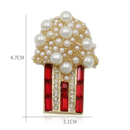emerald clothing UK - baiduqiandu Beautiful Letters Design Brooches with Simulated Pearls Clothing Accessories Pins Jewelry Gifts