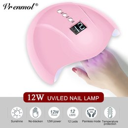 $enCountryForm.capitalKeyWord Australia - Vrenmol 12W UV LED Lamp Bulb Nail Art Gel Gel Polish for Nails Art Tools Curing Dryer Light Tube Manicure Tool