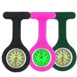 Nurse doctor pocket watch online shopping - New unisex women ladies nurse silicone rubber FOB pocket Luminous watch medical doctor quartz hang pin soft watches