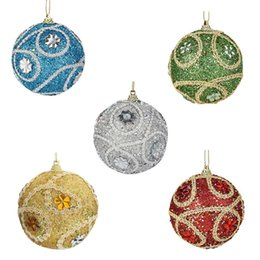 Glitter drops online shopping - Christmas Rhinestone Glitter Baubles Balls Xmas Tree Ornament Decoration CM Nov22 Drop Ship