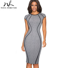 Wholesale women s optical illusion dress for sale – plus size Nice forever Vintage Optical Illusion Wear To Work Vestidos Bodycon Sheath Women Office Business Party Elegant Dress B458 Y19051102