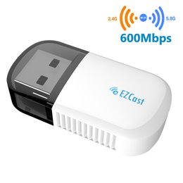 Discount mini pc network cards - EZcast USB WiFi Adapter Mini Dual Band 5G 2.4GHz Wireless Network LAN Card with Bluetooth 4.2 For Desktop Laptop PC Wind
