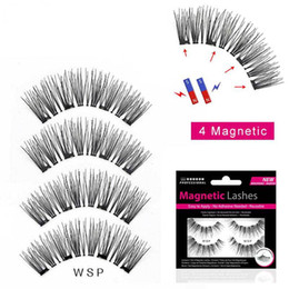 47baad159e5 Women's Eyelashes 8 Model 3D Magnets False Eyelashes Free Glue Four Magnets  Handmade Soft Thick Messy Cross Natrual Looking Black Color