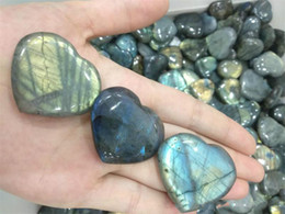 labradorite healing crystals NZ - Hot Sale New Heart-shaped Labradorite Natural Heart-shaped Labradorite Crystal Rough Polished Healing for home decoration