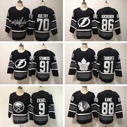 821a24dd2 New All-Star 91 Steven Stamkos 86 Nikita Kucherov 88 Patrick Kane Pastrnak  9 Jack Eichel Erik Karlsson 70 Braden Holtby Black Hockey Jerseys