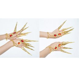 Chinese  4x Womens Girls Dancing Finger Jewelry Belly Dance Nail Finger Indian Thai manufacturers