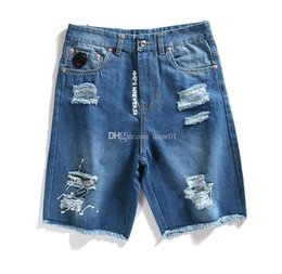 mens short jeans Australia - New Aape Mens Jeans Fashion Denim Shorts Designer Ripped Holes Simple Denim Shorts Mens AAPE Summer Designer Casual Shorts