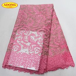 $enCountryForm.capitalKeyWord NZ - ADONG Pink African lace fabric high quality water soluble fabric With embroidered for women fashion 2018 wedding dresses DIY