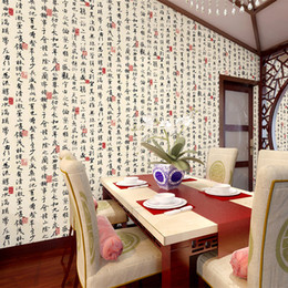 chinese calligraphy paintings NZ - Chinese style wallpaper classical calligraphy and painting mural wallpaper living room study room wall restaurant hotel decor