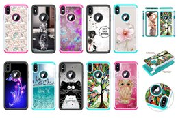owl iphone cases Australia - Shockproof Hard PC+TPU Case For Iphone XS MAX XR X XS 8 7 6 Ipod Touch 7 5 Defender Totoro Owl Cat Flower Butterfly Hybrid Armor Phone Cover