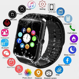 bluetooth smart watch sim Australia - GT08 Bluetooth Smart Watch with SIM Card Slot and NFC Health Watchs for Android Samsung and IOS iphon Smartphone Bracelet Smartwatch