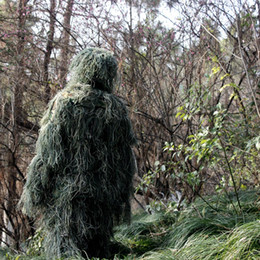 Ghillie suit clothinG online shopping - Camouflage Hunting CAMO JUNLGE GHILLIE YOWIE SNIPER TACTICAL CAMOUFLAGE SUIT ghillie suit Camouflage Clothing