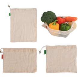 shop bag fruit NZ - Eco friendly Reusable Produce Bags Washable Bags for Grocery Shopping Storage Fruit Vegetable Organizer Storage Mesh Bag Kitchen organizer