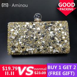 Ladies Evening Handbags Australia - Brand Luxury Shiny Diamond Evening Bag Women Chain Purse Fashion Crystal Acrylic Clutches Banquet Socialite Ladies Handbag Sac D18110106