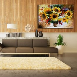Painting Kitchens NZ - Golden Sunflowers Bouquet HD Canvas Posters Prints Wall Art Painting Decorative Picture Modern Kitchen Bedroom Home Decoration