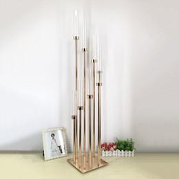 $enCountryForm.capitalKeyWord Australia - 8 Heads Metal Candelabra Candle Holders Acrylic Wedding Table Centerpiece Flower Stand Candle Holder Candelabrum Home Decor