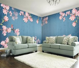 $enCountryForm.capitalKeyWord Australia - European retro magnolia and small bird custom wall HD Digital Printing Moisture Wallpaper