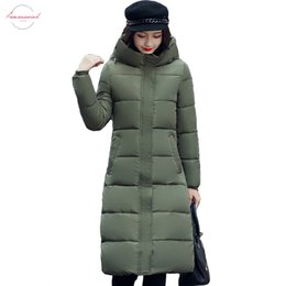 $enCountryForm.capitalKeyWord Australia - High Stand Collar Solid Thick Winter Long Hooded Women With A Hat Warm Thicken Womens Coat Padded Female Parka