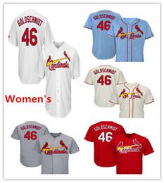 45fc49c19 Womens Cardinals Baseball Jerseys 46 Paul Goldschmidt Jersey Cream White  Red Gray Grey Blue Green Salute Players Weekend All Star Team Logo