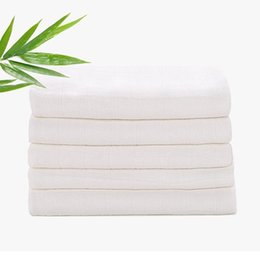 nappy towels Australia - Washable Baby cloth Diaper Bamboo Fiber Reusable newbron Kids white Nappy Water Absorption 3 Sizes Changing Pad blanket towel AAA2202