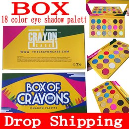 DropShipping Makeup Eye shadow palette BOX OF CRAYONS Eyeshadow iShadow Palette 18 Colors Shimmer Matte Eyeshadow Palette free shipping on Sale