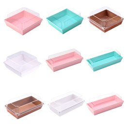 sandwiches box Australia - 100pcs High Quality Sandwich box space cover food box kraft paper plastic boxes custle cake packing free shipping