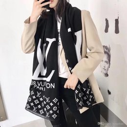 Tassels pashminas online shopping - 2019 High quality women s wool scarf shawl fashion casual tassel alphabet plaid design style autumn and winter warm brand scarf