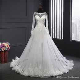 $enCountryForm.capitalKeyWord Australia - Sexy Wedding Dresses Summer Modest Wedding Dresses White Brides Gown Elegant High Class Long Train Brides Dresses Chinese Factory Man Made