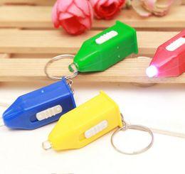 $enCountryForm.capitalKeyWord Canada - 1000pcs Pagoda Type Counterfeit Light LED Keychain Counterfeit Light Blue Small flashlight Keychain Small Gift For life Use Mix Color HYS241