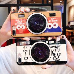 Wholesale Plastic Camera Cases NZ - Cartoon Camera Air Bag Cell Phone Bracket TPU Case For iPhone XS MAX Case For iPhone X 7 8 Plus Case