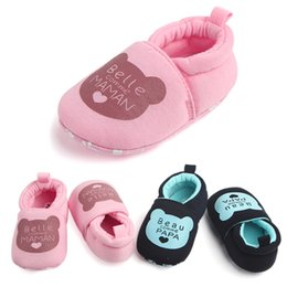 Walkers For Toddlers Australia - Lovely Toddler First Walkers Baby Shoes Round Soft Slippers Shoes Children's Walking For Boys Girls FEB10
