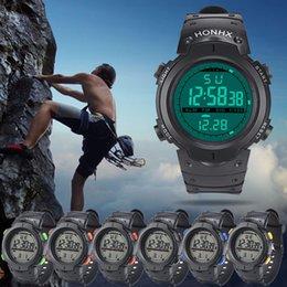 Men Digital Wrist Watches NZ - Erkek Kol Saati Outdoor Waterproof LED Digital Stopwatch Date Rubber Sport Wrist Men's Watch Men Stopwatch Clock Orologio Uomo