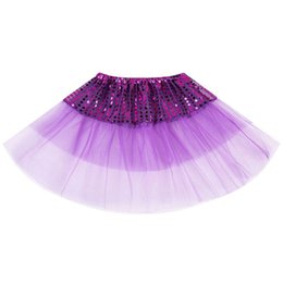 $enCountryForm.capitalKeyWord Australia - Children Toddler Girls Ruffles Pleated Tutu Skirt Fancy Gradient Color Glitter Sequins Patchwork Ballet Dance Costume 6 Colors A