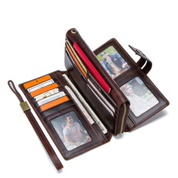 $enCountryForm.capitalKeyWord Australia - Cow Real Leather Mens Wallet Fashion Business Purse Money Clip Wallets Clutch Bag with 18 Card Slots 5 Receipt Pocke Mobile Pouch M1267