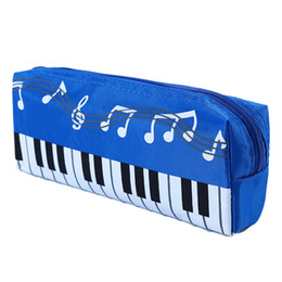 $enCountryForm.capitalKeyWord UK - Hot New Lovely Musical Piano Keyboard Pencil Case Stationery Office School Supplies Music Pen Bag Box Storage Bag Cosmetic