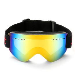 aaf56fa0c Óculos de esqui Robesbon Lente UV400 UV400 Anti-nevoeiro de neve à prova de  vento não COPOZZ Esférico óculos de esqui para mulheres dos homens