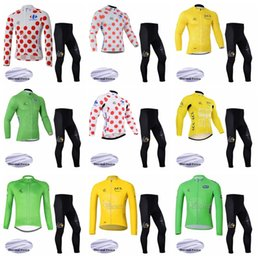 good cans 2019 - TOUR DE FRANCE team Cycling Winter Thermal Fleece jersey pants sets can be customized good quality Breathable Mens Cycli