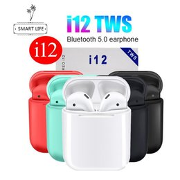Apple I Touch Australia - 2019 NEW I12 TWS I10 Bluetooth Earphone Wireless Earphones Touch Control Headset 3D Stereo Earbuds Charging Case I 10 I 12 Tws