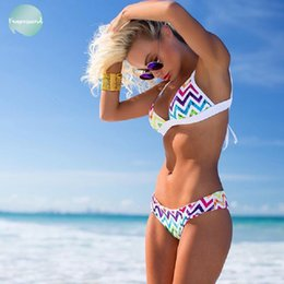sexy rainbow bikini Australia - Rainbow Bikini Sexy Swimwear Women Biquini Brazilian Women Mini Set Micro Bikini Swimsuit Girl Stripy Swim Suit