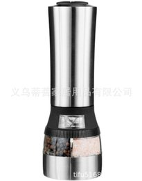 $enCountryForm.capitalKeyWord Australia - Double Headed Electric Grinders Wholesale High Grade Stainless Steel Pepper Mill ZX-D18 Pepper Grinder Mills Machine
